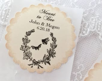 Bee Favor Stickers Wedding Stickers Seals Meant to Bee Set of 10