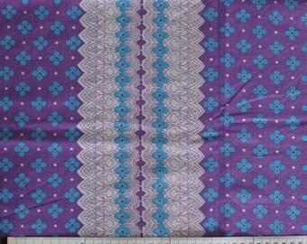 Seventies vintage floral fabric - 120x30 cm.