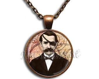 20% OFF - Edgar Allan Poe Glass Dome Pendant or with Chain Link Necklace VT107