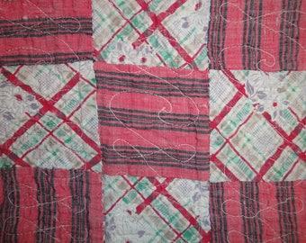 Vintage Quilt Piece | Old Quilt Piece | Antique Quilt Piece | Cutter Quilt Piece | Primitive Old Quilt Piece