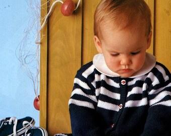 Pingouin Baby No 143 Spring Summer Knitting Patterns Newborn Gifts Layette Nautical