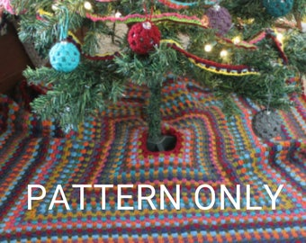 CROCHET PATTERN Granny Square Tree Skirt
