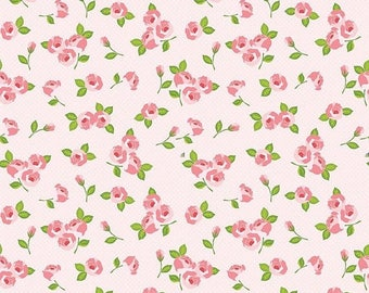 ON SALE Riley Blake Designs Kewpie Love - Floral Pink
