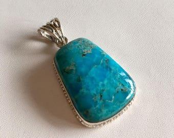 Turquoise Pendant-Turquoise Gemstone Pendant