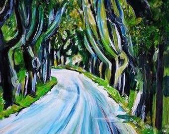 Wall Art - Art Print - France Art - Curve in the Road - Saint Remy de Provence, France - Leah Reynolds