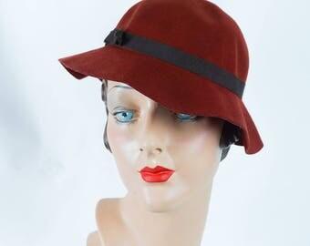 1930s Vintage Hat Shallow Crown Brimmed Fedora Stamped Duke of Kent Sz 21 1/2