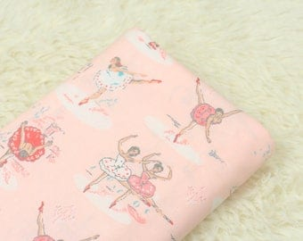 4435 - Cath Kidston Ballerinas (Pink) Cotton Fabric - 53 Inch (Width) x 1/2 Yard (Length)