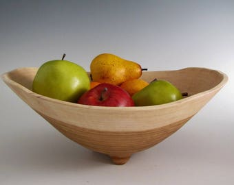 Wood Turned Bowl - Chestnut Oak Salad or Fruit  Bowl - Wooden Bowl - Hand Turned Bowl - Anniversary Gift Bowl - Salad Bowl - Fruit Bowl