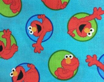 Cotton Blue Pillowcase with Elmo Print