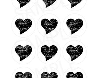 Wedding Favour Thank You Tags - Print your own PDF-Instant Download