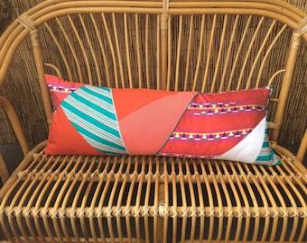 Long patchwork pillow