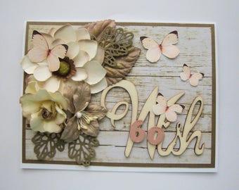 60th Birthday Card - Embellished card - milestone birthday - Unique handmade