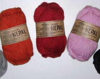 Garnstudio Drops Nepal - Alpaca/Wool  Aran-Weight Yarn, Eleven Colors to Choose From