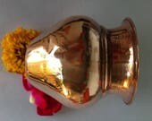 Copper Kailash Water Pot for Puja or Ayurveda