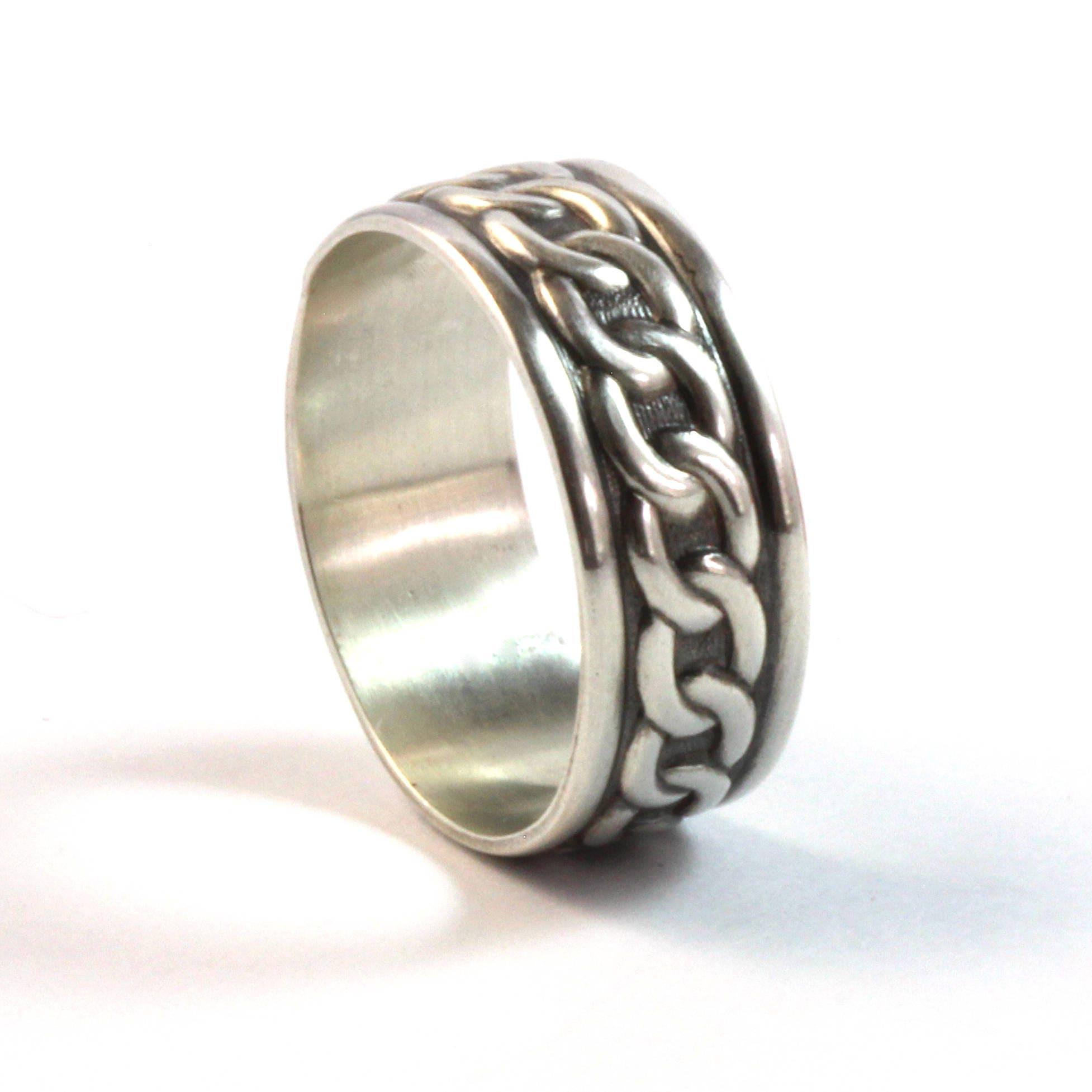 Sterling Silver Ring Silver Ring Men Wedding Ring Mens
