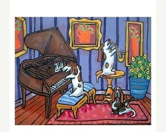 Basset Hound Trio Hund Kunstdruck