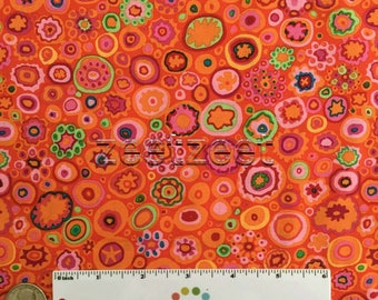 Kaffe Fassett PAPERWEIGHT RED Orange Pink GP20 Quilt Fabric - by the Yard, Half Yard, or Fat Quarter Fq Citron Green