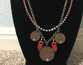 Vintage coin and talhakimt necklace