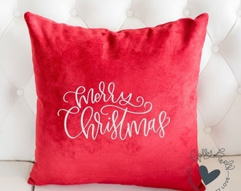 Christmas SVG or Holiday SVG Merry Christmas SVG Brush Lettered