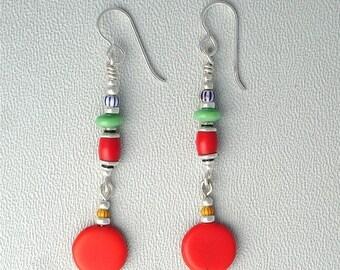 Summer Sale African Trade Bead Earrings