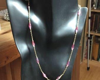 Summer Sale Swarovski Necklace Rose Pink by Kate Drew-Wilkinson