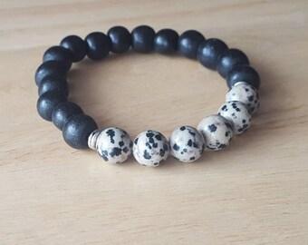 jasper bracelet, mens beaded bracelet, stacking bracelet, gift for him, boho jewelry, mala beads bracelet, gift for him, husband gift