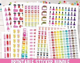 35% OFF SALE Instant Download Printable Planner Sticker Bundle Functional Planner Stickers, Icon Planner Stickers, Instant Download Printabl