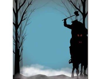 25pk Headless Horseman Letterhead Halloween Stationery