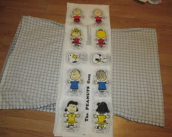 Pre Printed Fabric Panel to Make Cut and Stuff Charlie Brown Characters Makes 5