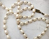 The Scottish Pearls - Long Pearl Necklace - Freshwater Pearl Necklace  - Pearl - Pearls - Wedding - Timeless - Ready to Ship