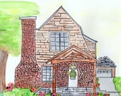 Custom watercolor, Home...