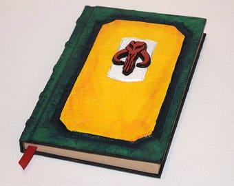 Star Wars, Boba Fett, Mandolorian, Journal, Book, Grimoire, Tome, Sketchbook, Journal