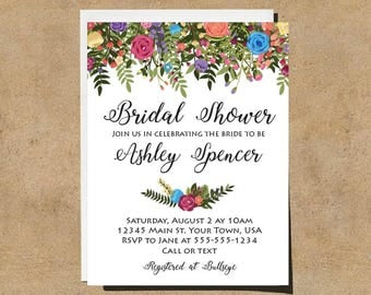 Floral Bridal Shower Invite - PRINTABLE