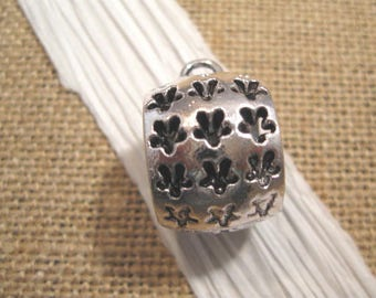 Antique Silver Barrel Star Pendant