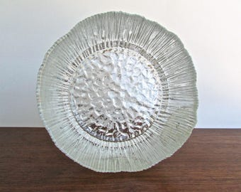 Kitchen Chemistry, Blown Pilgrim Glass, Vintage Large Textured Glass Bowl