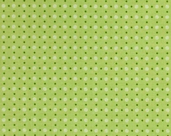 FABRIC Fat Quarter Polka Dots Bee Basics Green   Fat Quarter    We combine shipping