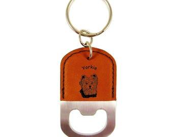 Yorkie Head 2 Bottle Opener Keychain K4255 - Free Shipping