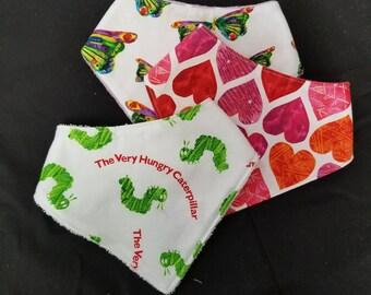 Very Hungry Catapillar bandana bibs