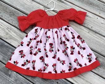 Minnie Mouse Dress - Disney Dress - Character Dress - Minnie Mouse - Disney Vacation - Groovy Gurlz