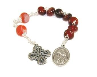 Saint Peter Christian Prayer Beads, Anglican Chaplet Rosary