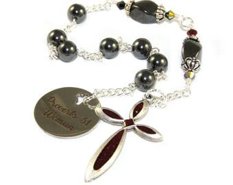 Anglican Chaplet Rosary, Proverbs 31 Woman's Prayer Beads
