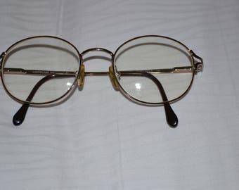 Vintage LUXOTTICA  Round Eyeglasses, Prescription, Gold Filled Trim, 70s