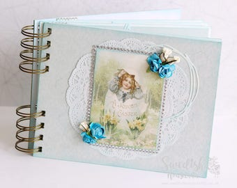 Easter mini-album | 7 x 5,5 inches | OOAK