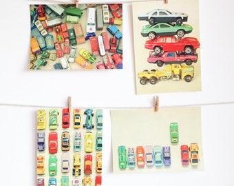 Car Postcards, colourful Retro Postcard Set, Affordable Art for Kids - Cars