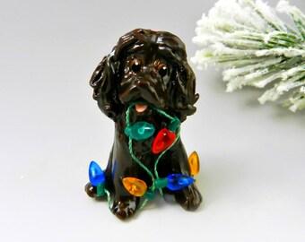Boykin Spaniel Christmas Ornament Figurine Lights Porcelain