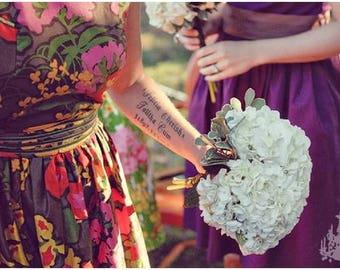 Wedding Trio- Bridesmaids - 3 floral tea dresses