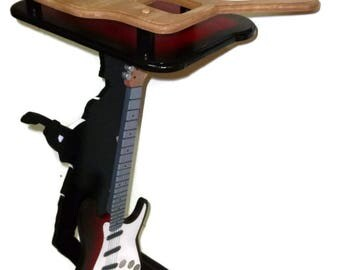 On Sale-Unique Novelty Tray Table Sculpture - Custom Music Themed Novelty Tray Table & sculpture-  Guitar, music man theme- by Alisa - DAS