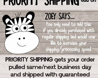 RUSH MY ORDER - priority processing and shipping