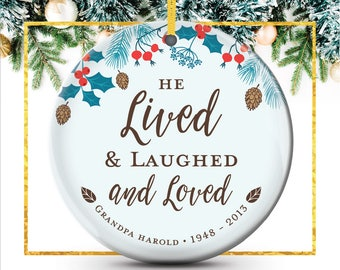 In Memory of Grandpa, Dad, Remembrance Ornament, Sympathy Gift, Christmas Ornament, Memorial Gifts, Sympathy Gift Father // C-P116-OR ZZ2