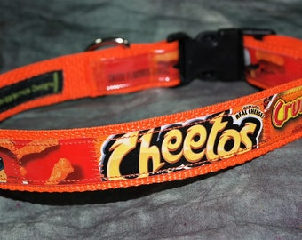 Adjustable Dog Collar from Recycled Cheeto's Crunchy Bags